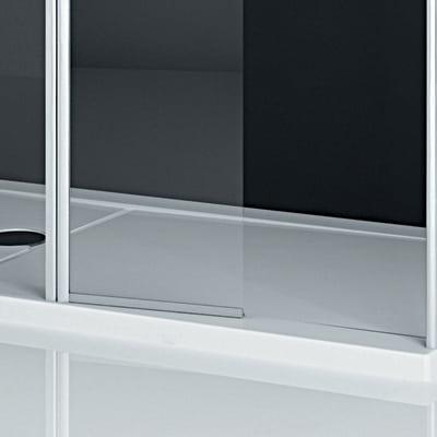 Laterale per walk-in Twist 88, H 195 cm cristallo 6 mm trasparente/silver