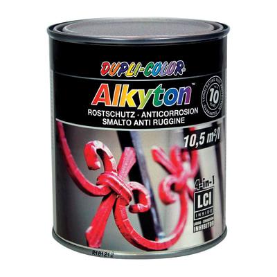 Smalto per ferro antiruggine Alkyton grigio argento RAL 9006 brillante 0,25 L