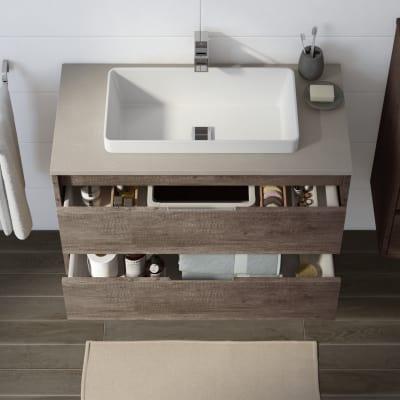 Mobile bagno Loto rovere scuro L 90 cm prezzi e offerte online ...