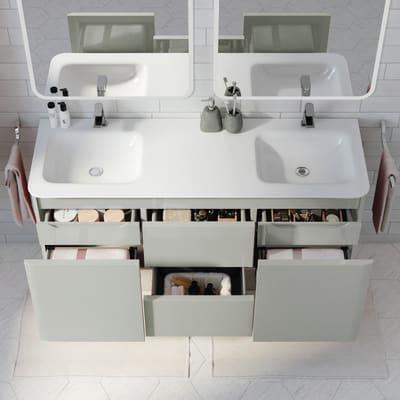 Mobile bagno Liverpool grigio L 140 cm