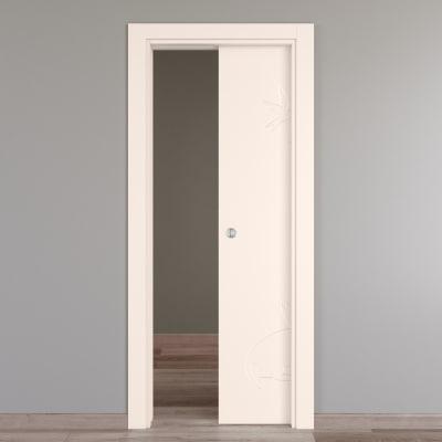 Porta da interno scorrevole Catbird crema 80 x H 210 cm reversibile