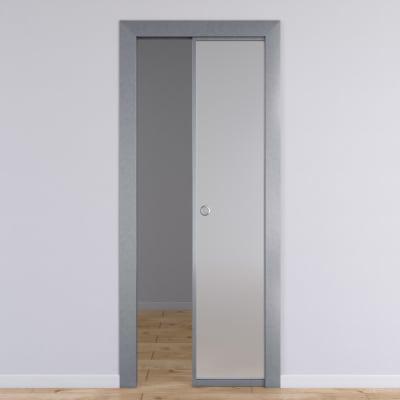 Porta per ufficio scorrevole Office vetro temperato bianco satinato ...