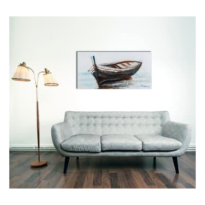 quadro dipinto a mano Barca vintage 60x120
