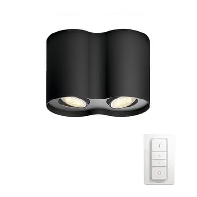 Barra a 2 luci Philips Hue Pillar nero