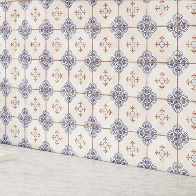 Piastrella Racine 15 x 15 cm bianco