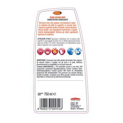 Pulitore spray Maggiordomo Acciaio Inox manutentore igienizzante 750 ml