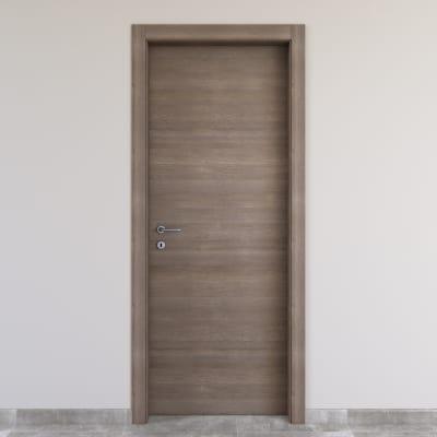 Porta da interno battente Stylish Grigio 80 x H 210 cm reversibile