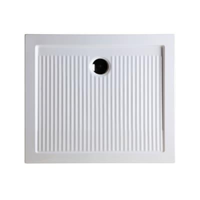 Piatto doccia ceramica Slim 90 x 70 cm bianco