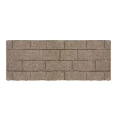 Tappeto bagno Wall marrone