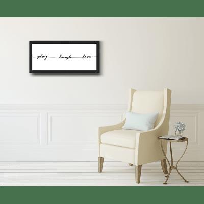 Stampa incorniciata Play 40 x 80 cm