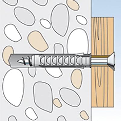 20 tasselli Fischer SX ø 8 x 40  mm