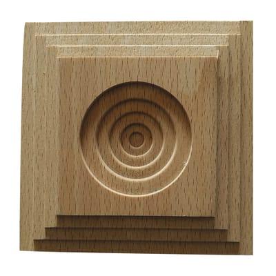 Fregio faggio levigato naturale 10 x 100 x 100 mm