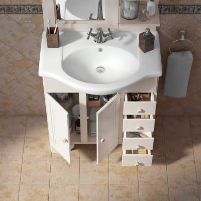 Mobile bagno Laura bianco L 76,5 cm