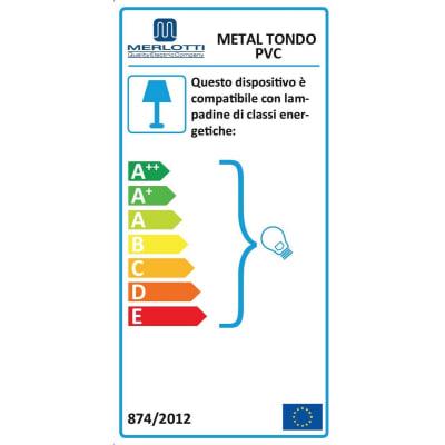 Pendel per lampadario componibile E27 (grande) grigio in plastica