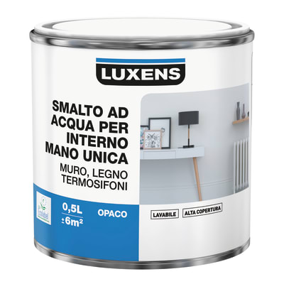 Smalto manounica Luxens all'acqua Marrone Moka 1 opaco 0.5 L