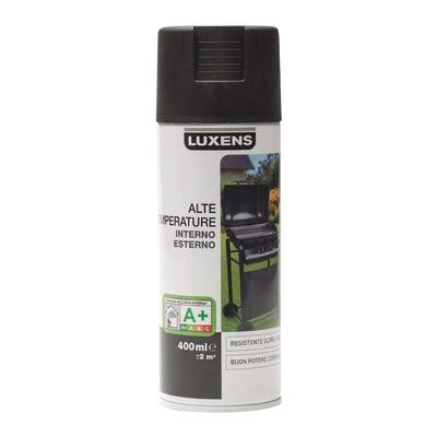 Smalto spray Luxens alte temperature nero opaco 400 ml