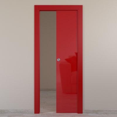 Porta da interno scorrevole Massaua red rosso 70 x H 210 cm reversibile