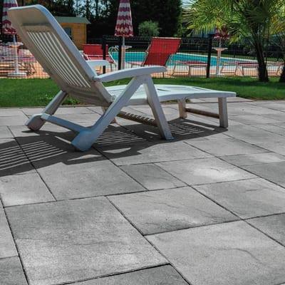 Lastra 40 x 120 cm Multiformato malcesine grigio venato 1 bancale 7.68 mq, spessore 4,8 cm