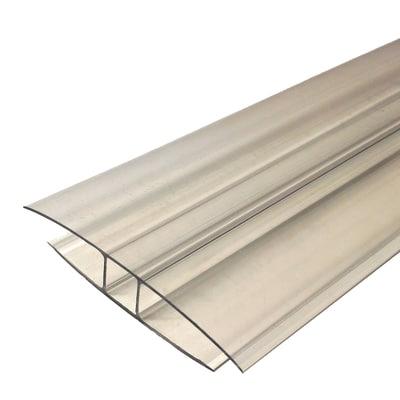 profilo h onduline in policarbonato 10 x 210 cm spessore