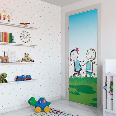 Porta da interno battente Junior 60 x H 210 cm sx