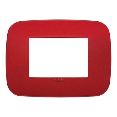 Placca 3 moduli Vimar Arké rosso