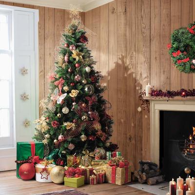 Albero di Natale artificiale Livigno H 210 cm