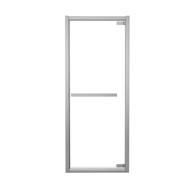 Porta doccia battente Namara 95-100, H 195 cm cristallo 8 mm trasparente/silver