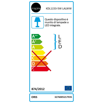 Faretto da incasso Oris nickel LED integrato orientabile rotondo Ø 9 cm 5 W = 550 Lumen luce calda