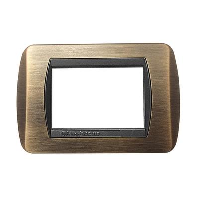 Placca 3 moduli CAL Living International bronzo