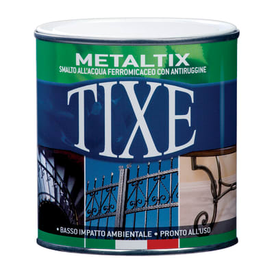 Smalto per ferro antiruggine Tixe Metaltix nero antichizzato 2,5 L