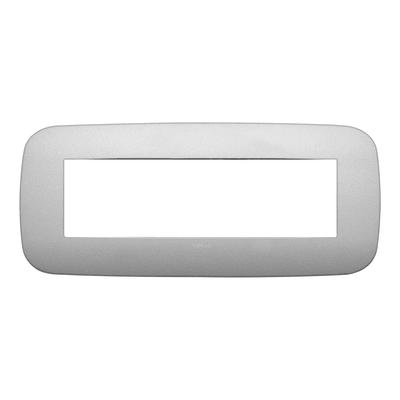 Placca 7 moduli Vimar Arké argento matt