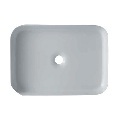 Lavabo da appoggio rettangolare Rettangolo L 65 x P 45 x H  10 cm
