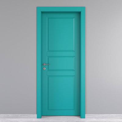 Porta da interno battente New York azzurro 80 x H 210 cm dx