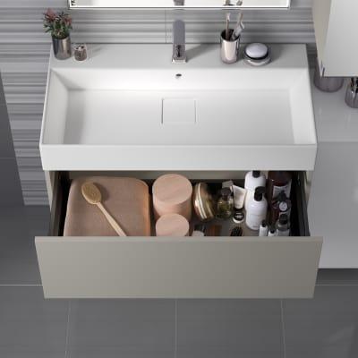 Mobile bagno Neo Line L 90 x P 48 x H 32 cm 1 cassetto grigio chiaro