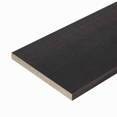 Pannello melaminico rovere scuro 18 x 400 x 2500 mm