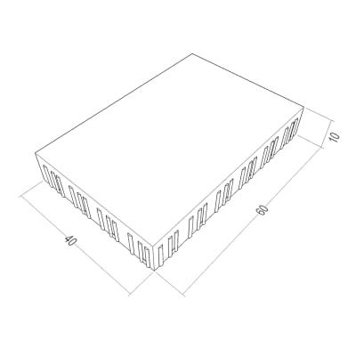 Lastra 40 x 60 cm Filtrante macrodrain ardesia bancale da 3.84 mq, spessore 10 cm
