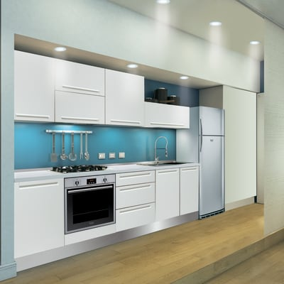 Cucina Delinia Tony bianco prezzi e offerte online | Leroy Merlin