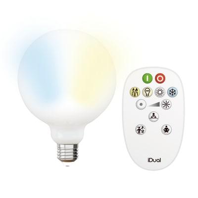 Lampadina LED E27 =60W globo luce CCT 330°