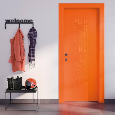 Porta da interno battente Keyboard orange arancio 60 x H 210 cm sx