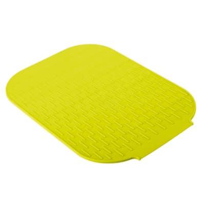 Sgocciolatoio tappetino scola stoviglie Rengo verde L 39 x P 27 cm