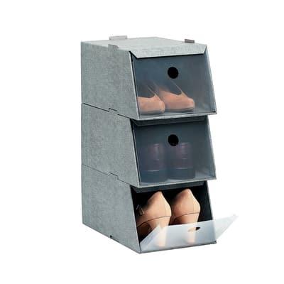 Set 3 scatole scarpe L 21,5 x H 16 x P 34 cm