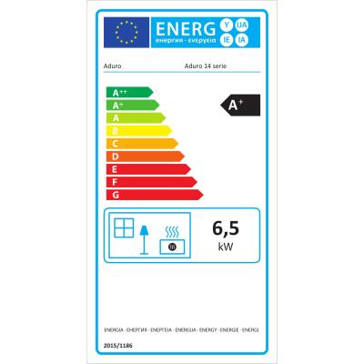 Stufa a legna Aduro 14.1 6.5 kW nero