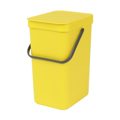 Pattumiera Sort & Go da incasso 12 L giallo