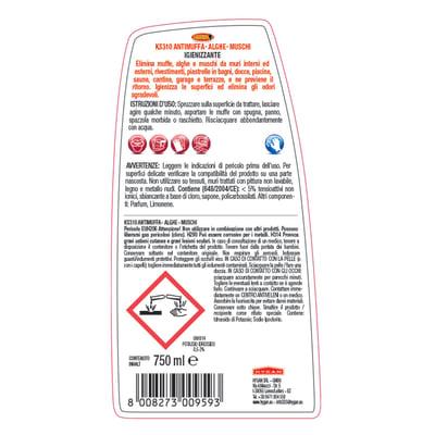 Pulitore spray Maggiordomo Antimuffa, alghe-muschi 750 ml