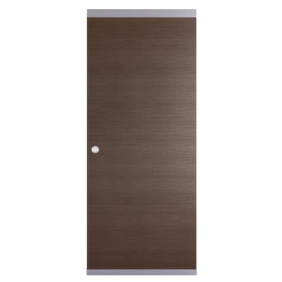 Porta da interno scorrevole Timber Easy binario nascosto fumo 91 x H 221 cm reversibile