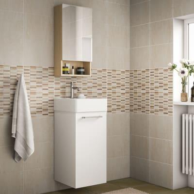 Mobile bagno easy bianco l 38 cm prezzi e offerte online for Mobile bagno doppio lavabo leroy merlin