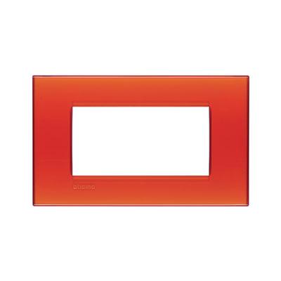 Placca 4 moduli BTicino Livinglight arancione