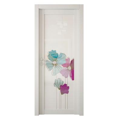 Porta da interno rototraslante Eden larice bianco 80 x H 210 cm sx