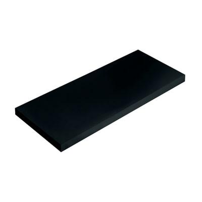 Mensola Spaceo nero L 76 x P 20, sp 1,8 cm