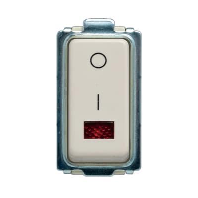 Interruttore 10A 1P illuminato FEB Laser bianco